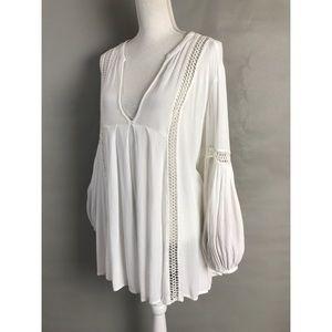 Free People Tunic Ivory Oversize boho blouse